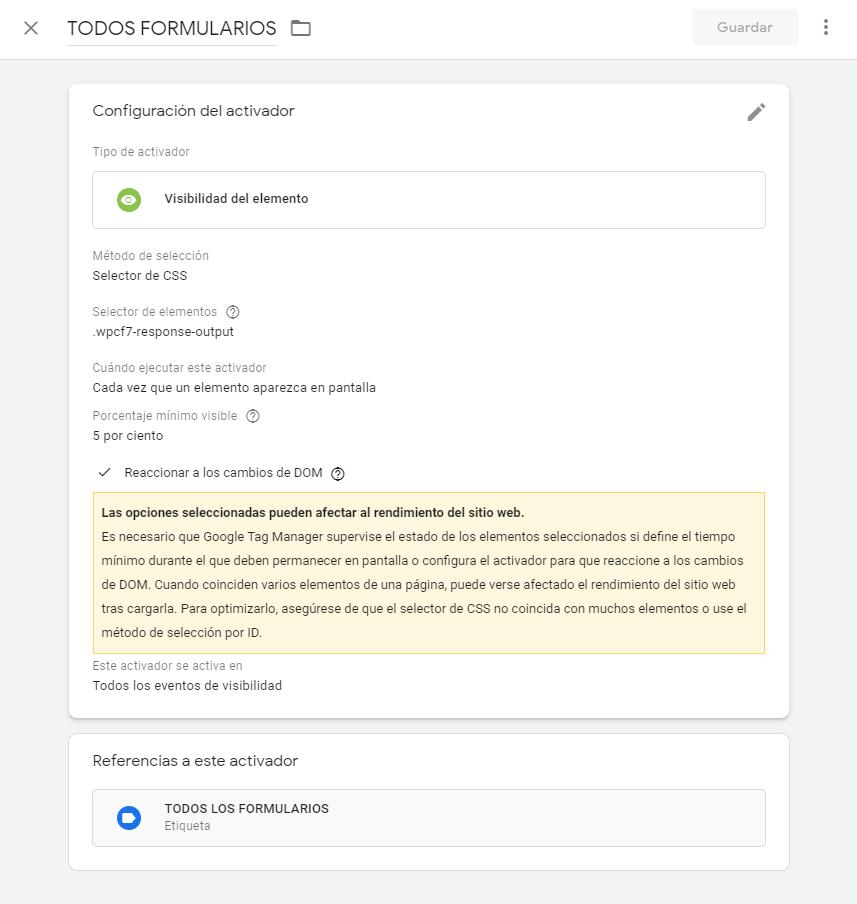 Solución al problema de registro de formularios con Contact Form 7