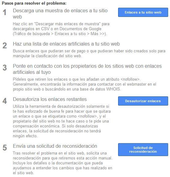 mensaje de Google Search Console - [CASO REAL] ¿Cómo salir de una acción manual de Google?
